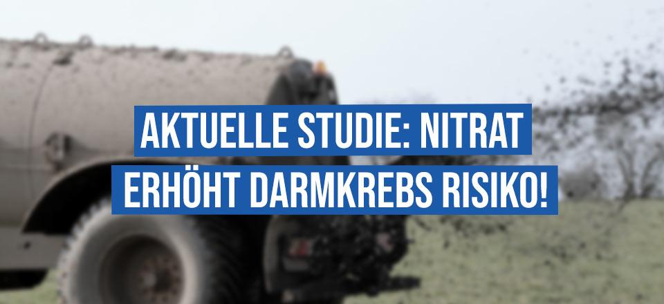 Nitrat im Trinkwasser erhöht Darmkrebs-Gefahr