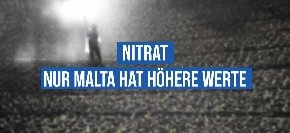 Nitrate im Grundwasser – Nur Malta hat höhere Werte